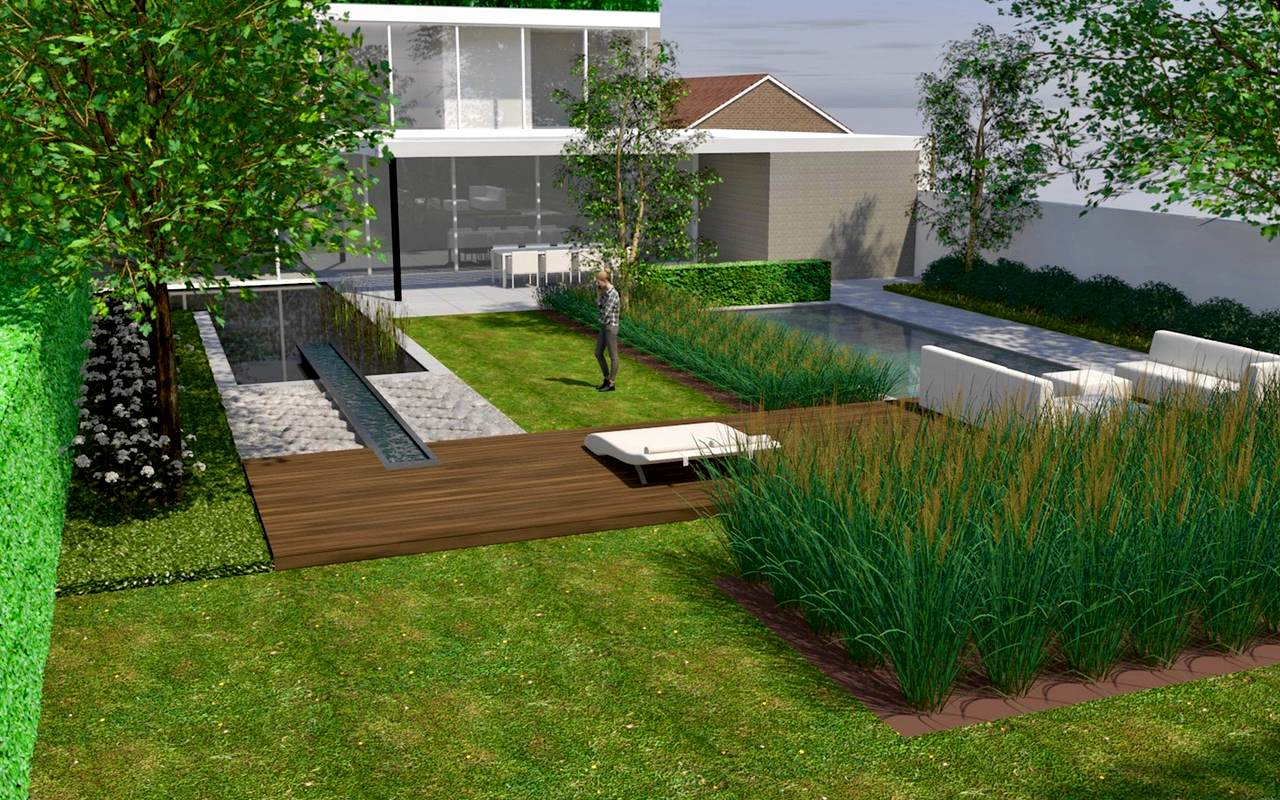 Tuinontwerp stoop tuinen for 3d tuinarchitect