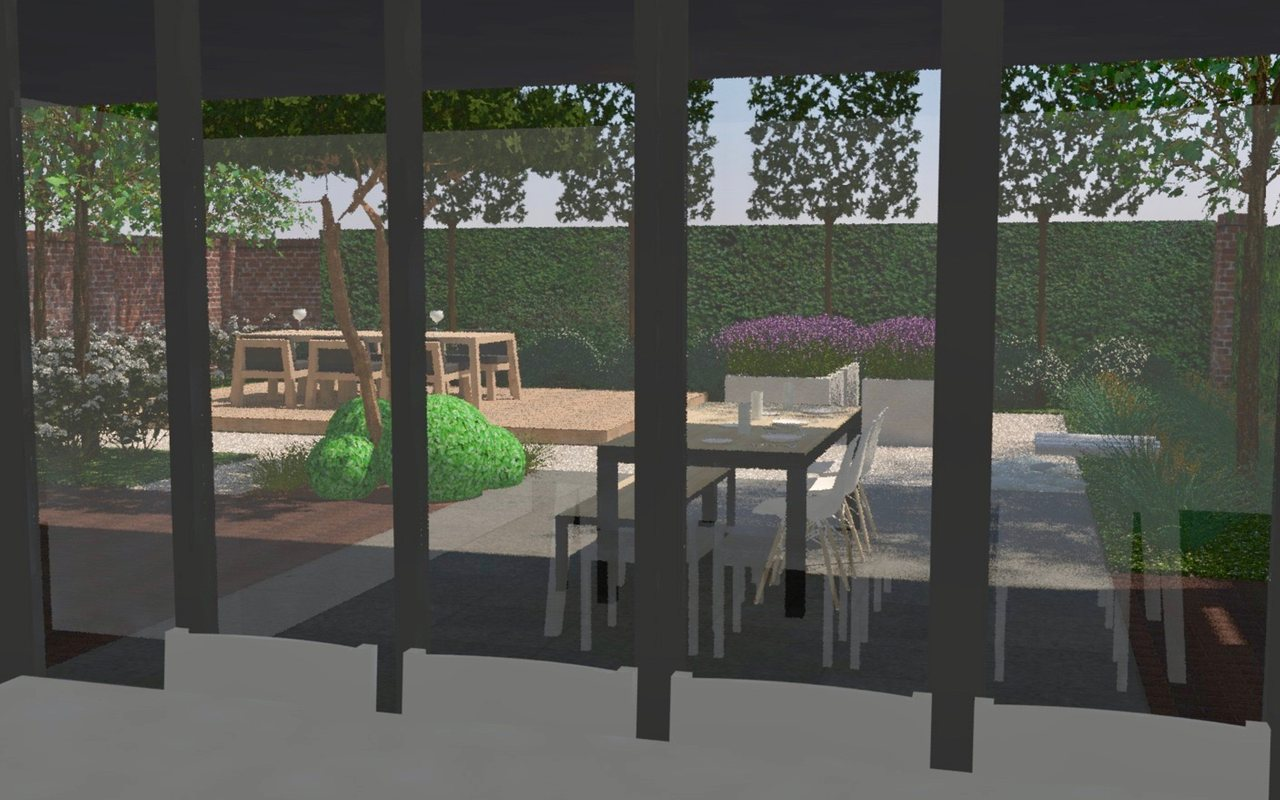 Tuinarchitect Tuinontwerp 3D Patiotuin